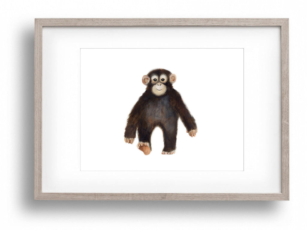 Baby Monkey Nursery Art Print - Studio Q - Art by Nicky Quartermaine Scott