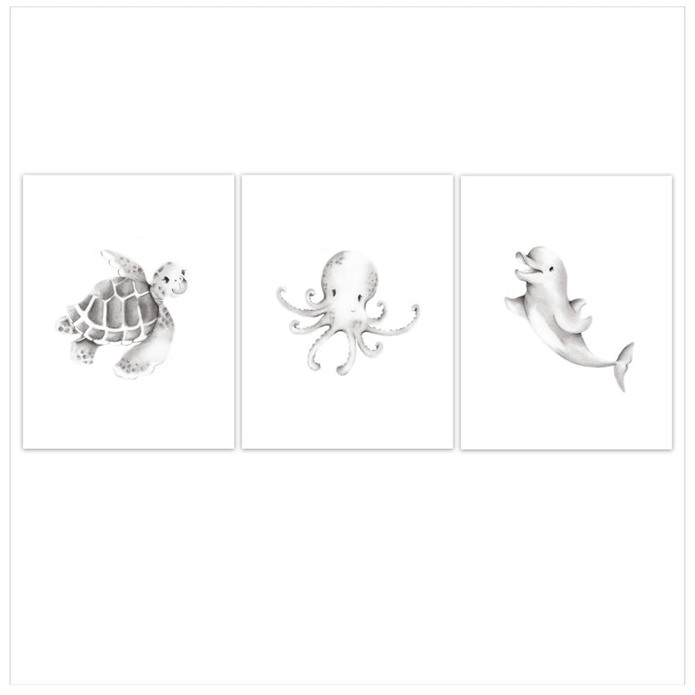 Sea Life Ocean Animal Nursery Art Prints
