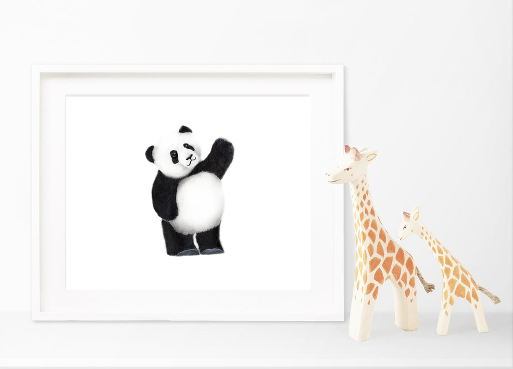 Panda Nursery Art Print - Studio Q - Art by Nicky Quartermaine Scott