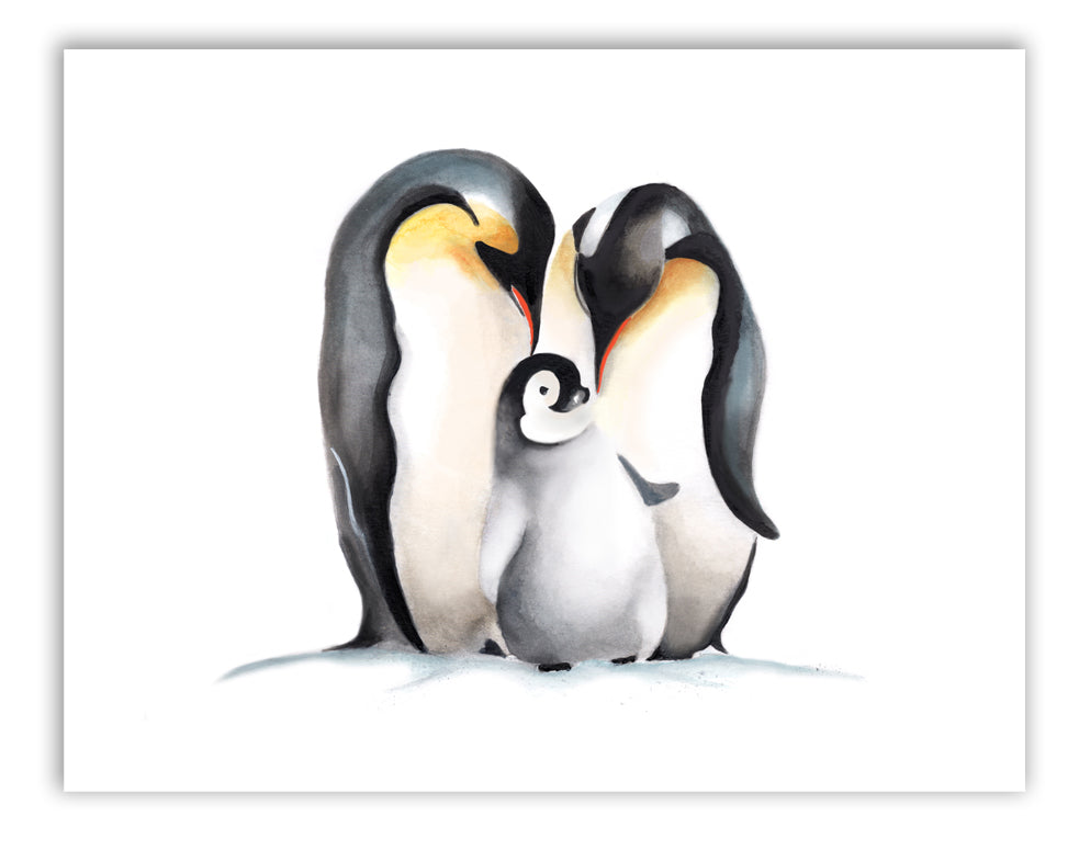 Penguin Family Painting Print - Studio Q - Art by Nicky Quartermaine Scott