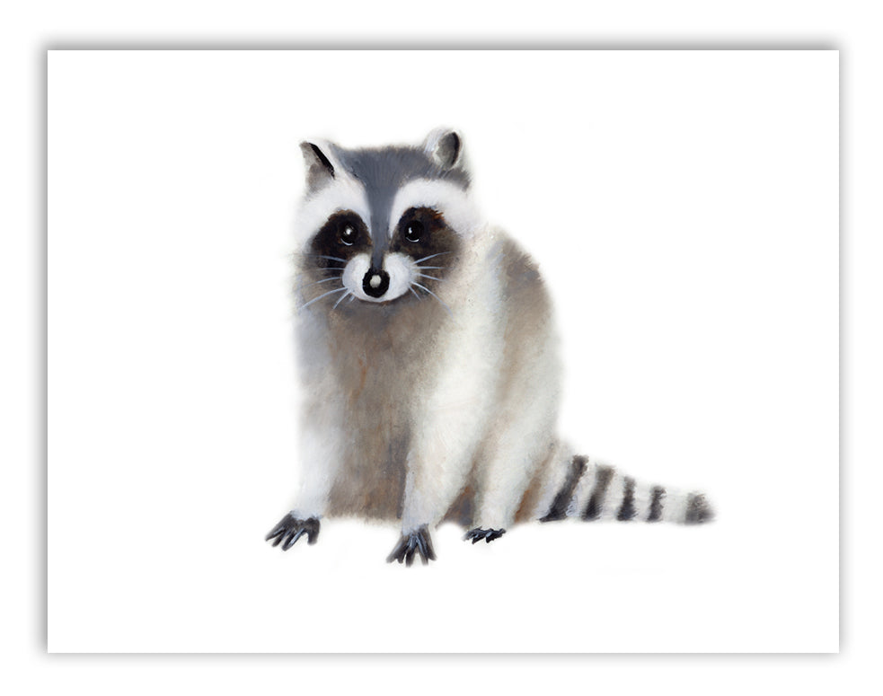 Raccoon Nursery Art Print - Studio Q - Art by Nicky Quartermaine Scott