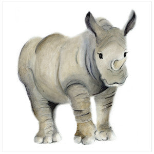 Rhino Nursery Art Print - Studio Q - Art by Nicky Quartermaine Scott
