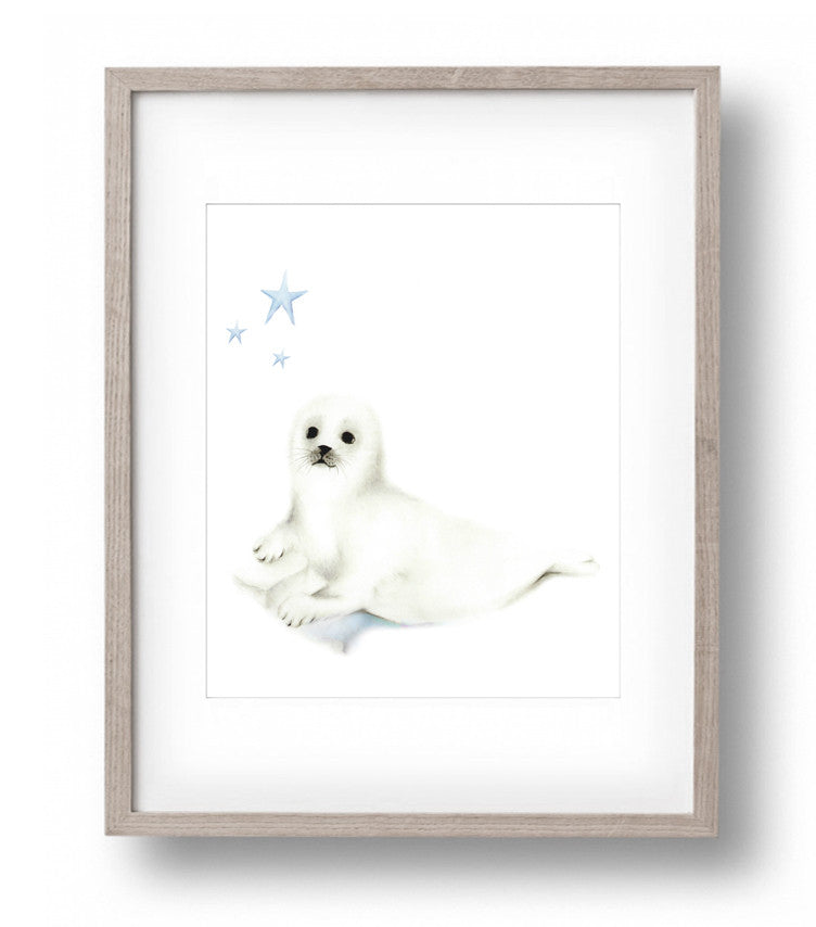 Seal Cub Nursery Art Print - Studio Q - Art by Nicky Quartermaine Scott