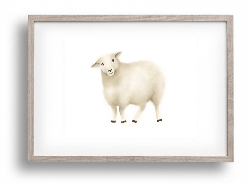 Sheep Nursery Art Print 1 - Studio Q - Art by Nicky Quartermaine Scott