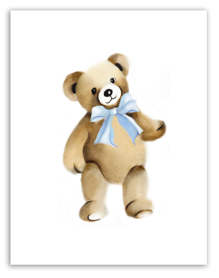 Teddy Bear Nursery Art Print for Baby Room
