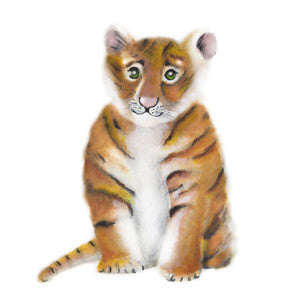 Baby Tiger Nursery Art Print - Studio Q - Art by Nicky Quartermaine Scott