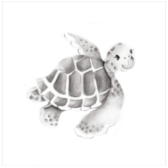 Sea Turtle Pencil Drawing Print - Studio Q - Art by Nicky Quartermaine Scott