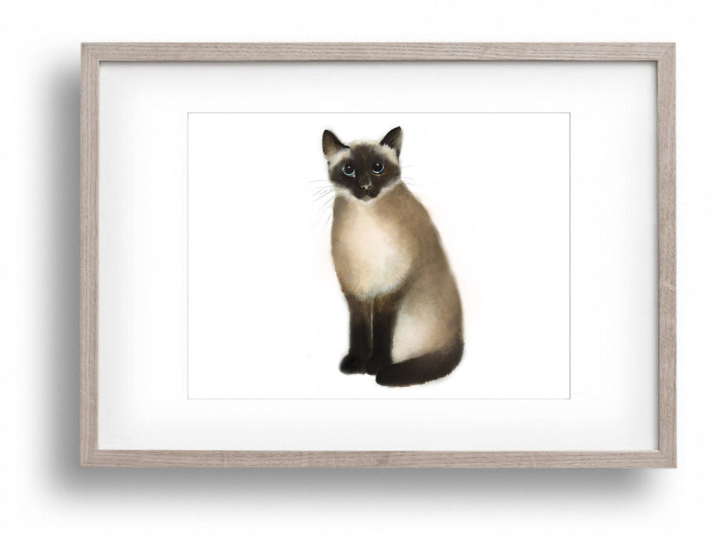 Siamese Cat Art Print - Studio Q - Art by Nicky Quartermaine Scott
