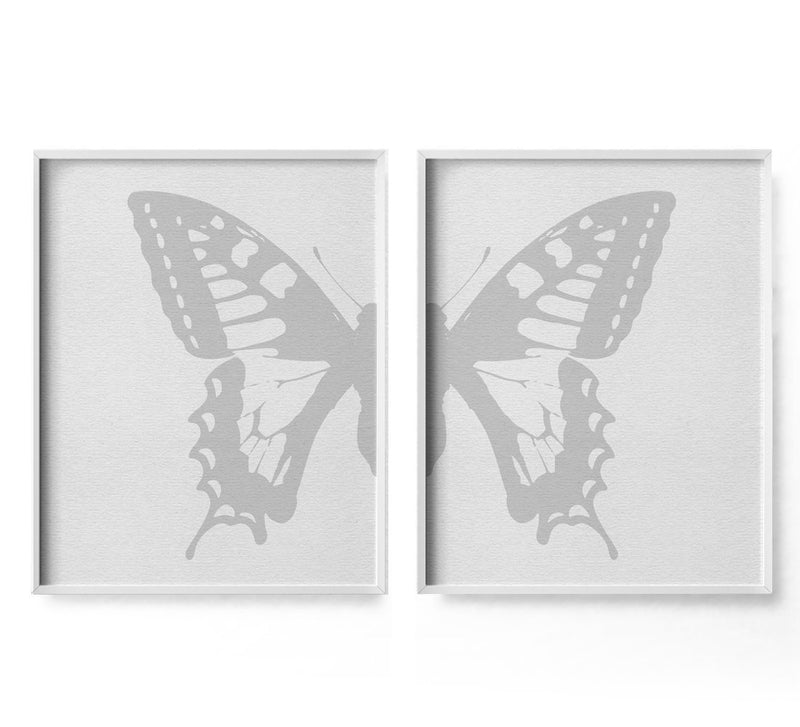 2 Piece Butterfly Art Print - Loftipop