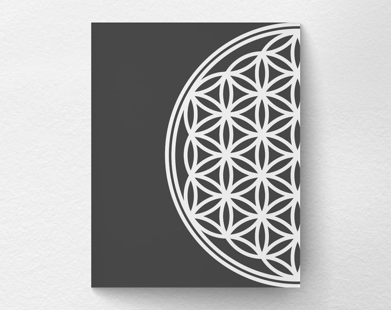2 Piece Flower of Life Art Print left frame - Loftipop