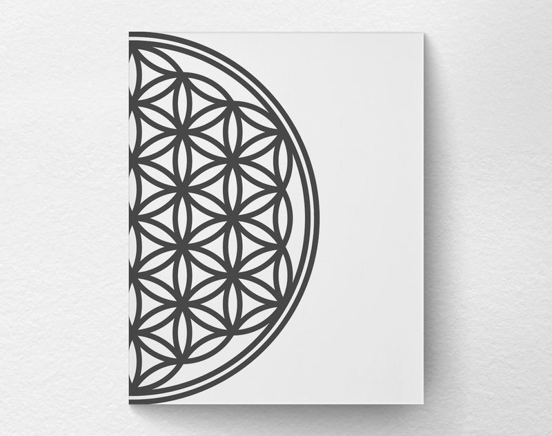 2 Piece Flower of Life Art Print right side - Loftipop