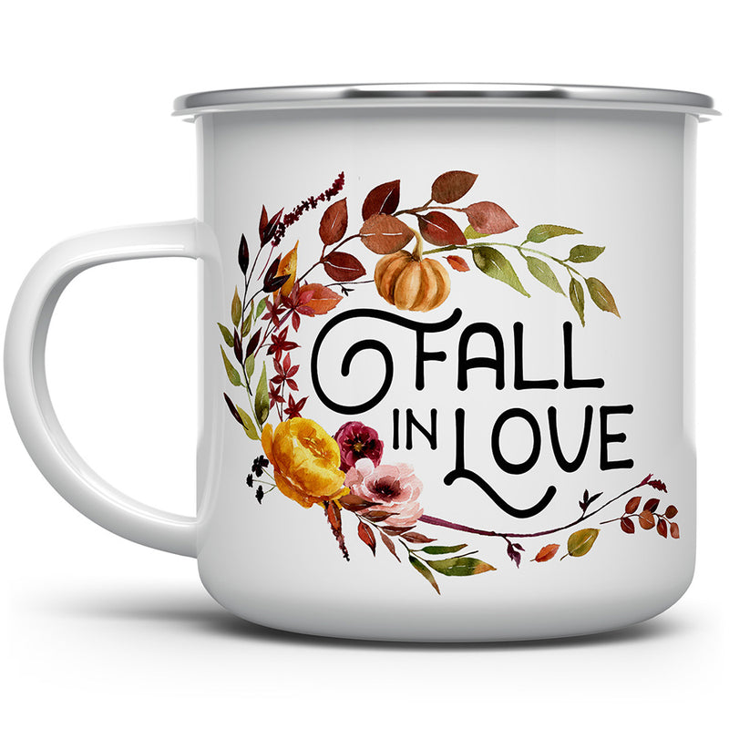 Fall in Love Camp Mug