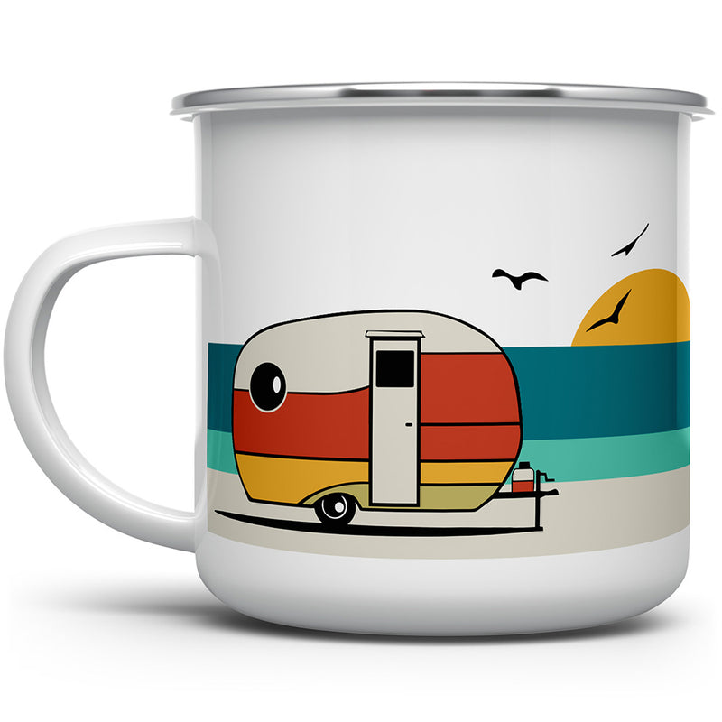 Good Vibes Retro Enamel Camp Mug