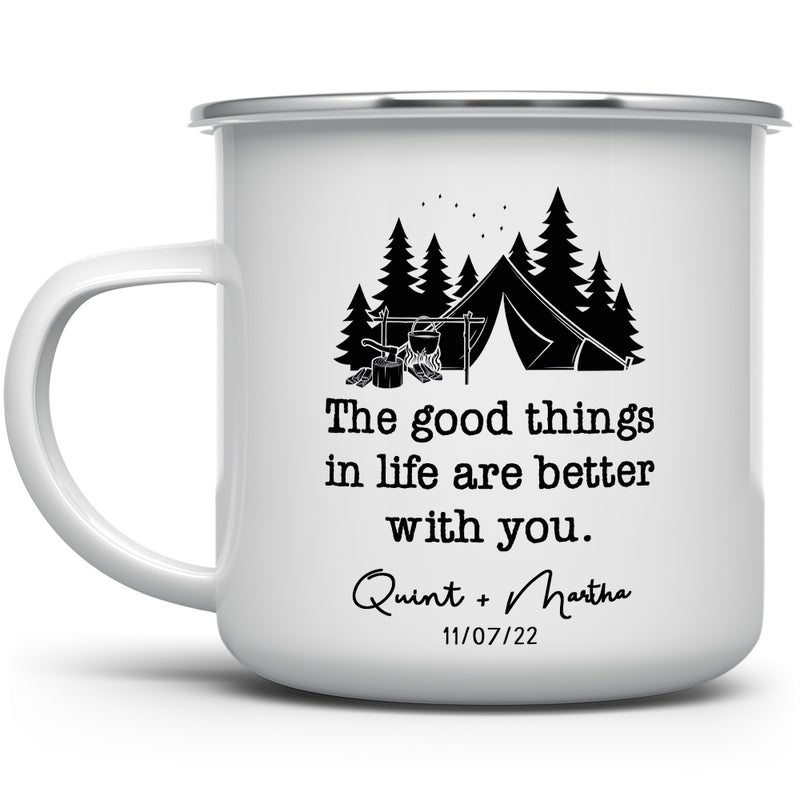Personalized Couples Camp Mug - The Good Things in Life