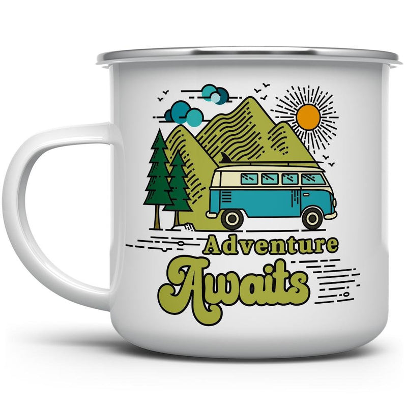 Adventure Awaits Retro Camp Mug - Loftipop