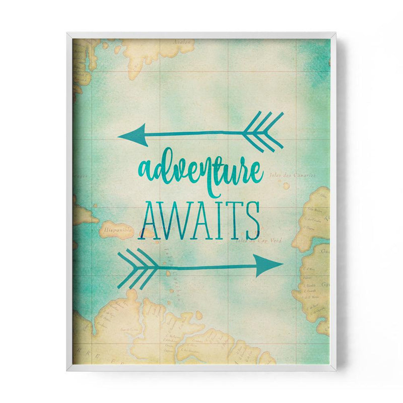 Adventure Awaits Travel Art Print - Loftipop