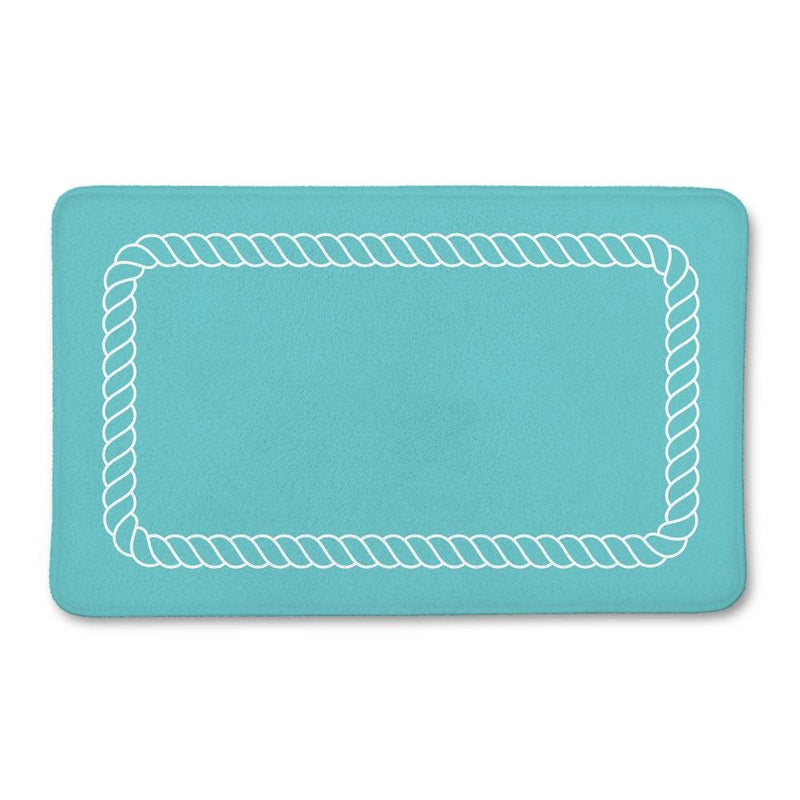 Aqua Nautical Rope Bath Mat - Loftipop