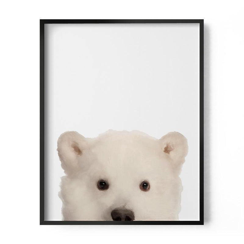 Baby Polar Bear Art Print - Loftipop