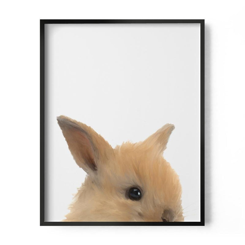 Baby Rabbit Art Print - Loftipop