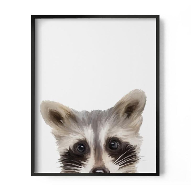 Baby Raccoon Art Print - Loftipop