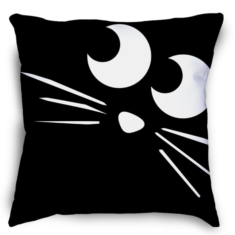 Black Cat Halloween Pillow - Loftipop