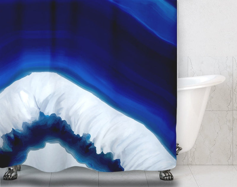 Blue Geode Shower Curtain - Loftipop