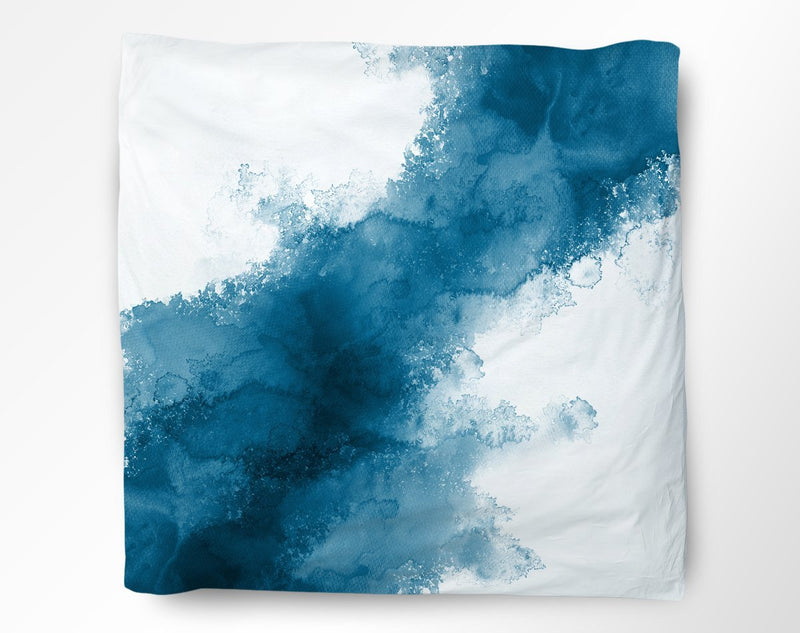 Blue Watercolor Duvet Cover - Loftipop