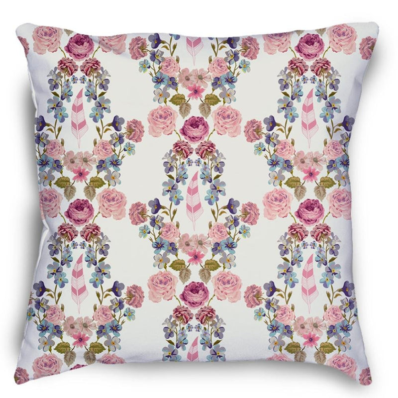 Boho Floral Pattern Pillow - Loftipop
