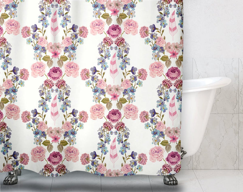 Boho Floral Shower Curtain - Loftipop