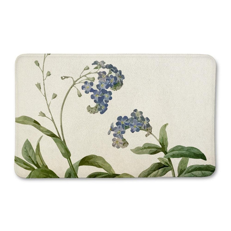 Botanical Butterfly Bath Mat - Loftipop