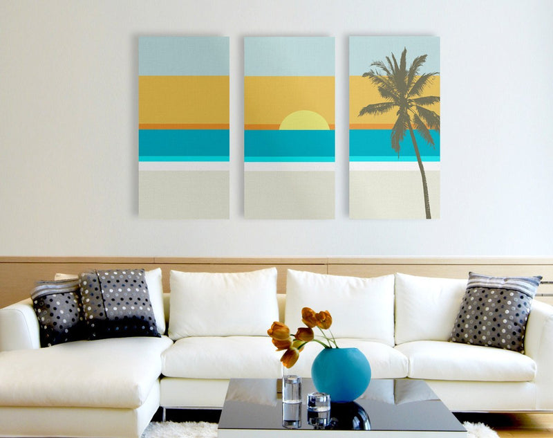 California Dreaming Triptych Canvas - Loftipop