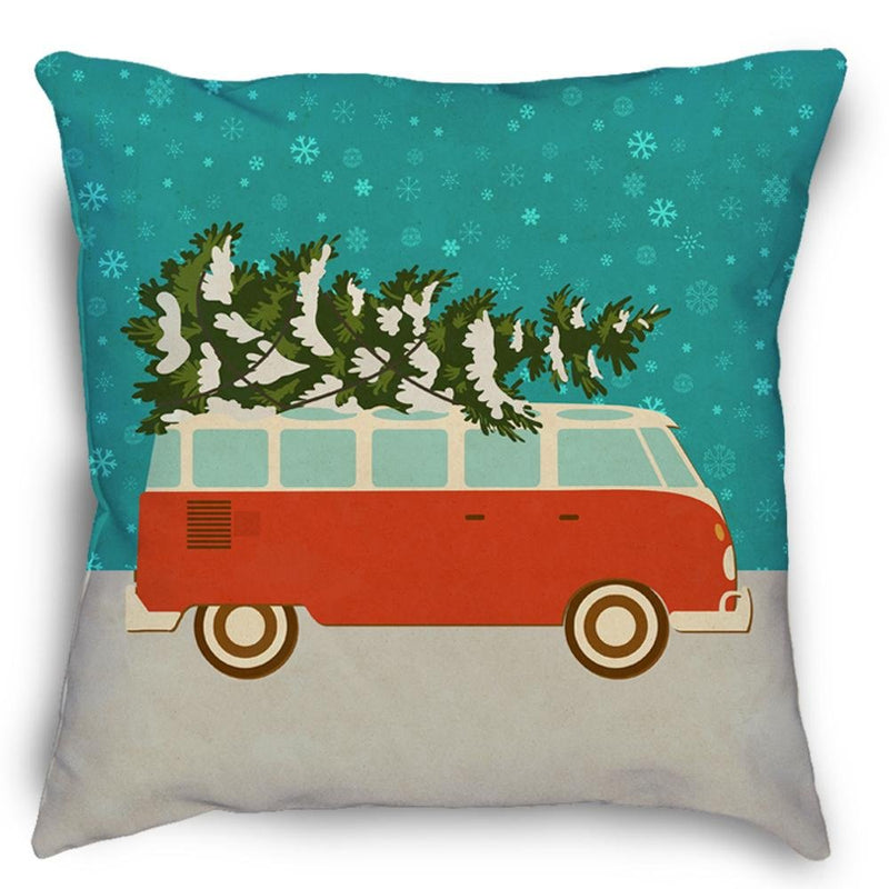 Christmas Bus Pillow - Loftipop