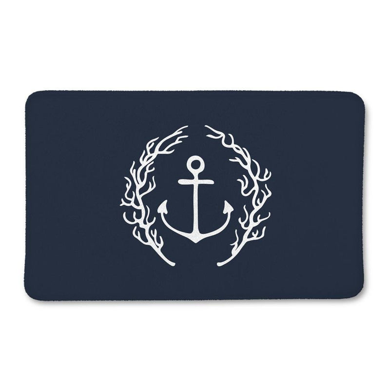 Coral Anchor Bath Mat - Loftipop