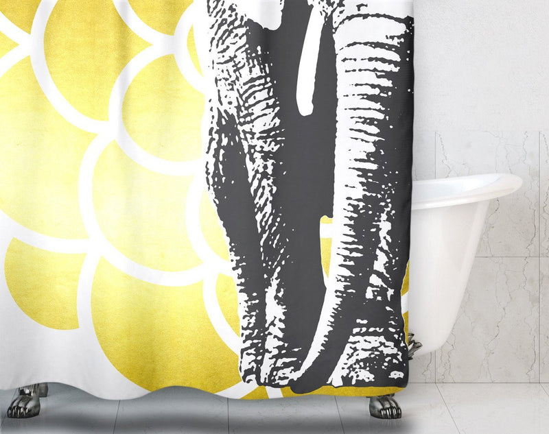 Elephant Mandala Shower Curtain - Loftipop