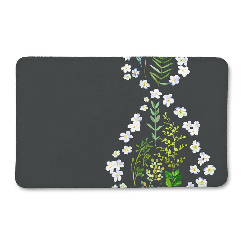 Floral DNA Bath Mat - Loftipop