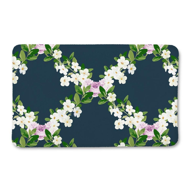 Floral Lattice Bath Mat - Loftipop