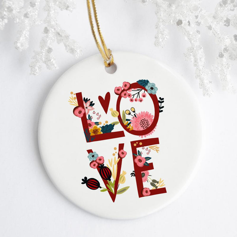 Floral Love Ornament - Loftipop