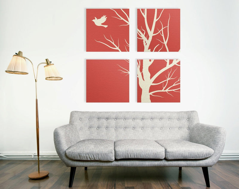 Fly Away Nature 4 Piece Quad Canvas - Loftipop