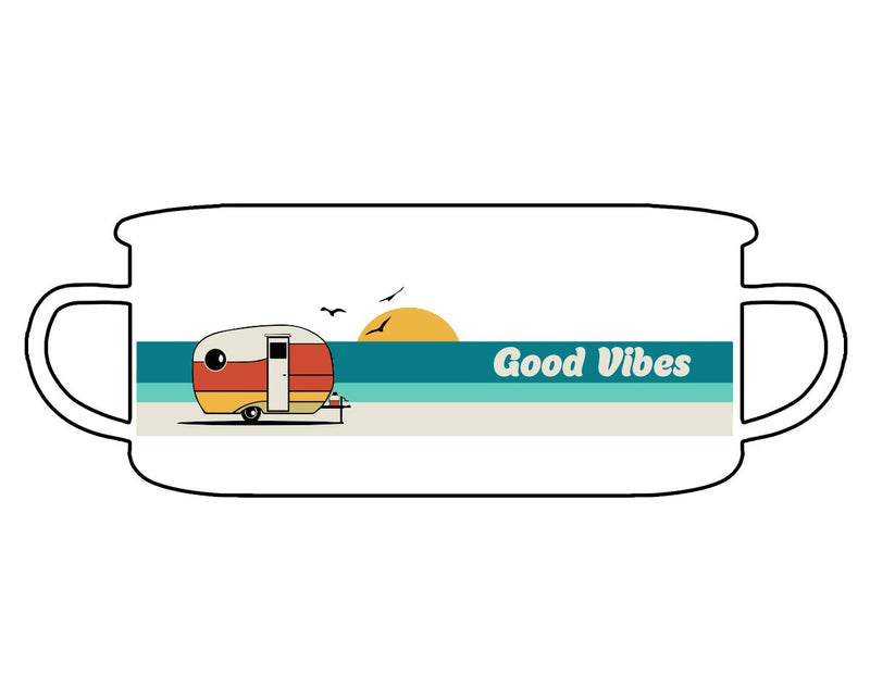 Good Vibes Retro Enamel Camp Mug - Loftipop