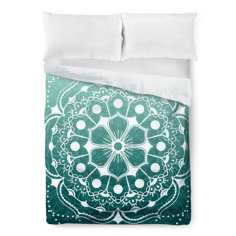 Green Mandala Duvet Cover - Loftipop