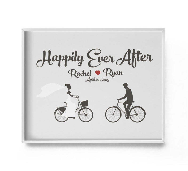 Happily Ever After Personalized Wedding Print - Loftipop