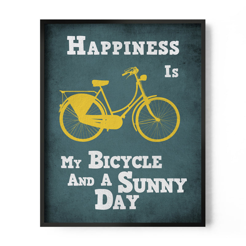 Happiness is, My Bicycle and a Sunny Day Art Print