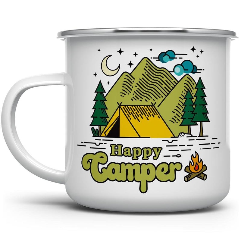 Happy Camper Retro Camp Mug - Loftipop