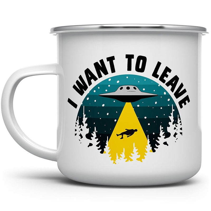 I Want to Leave UFO Camp Mug - Loftipop