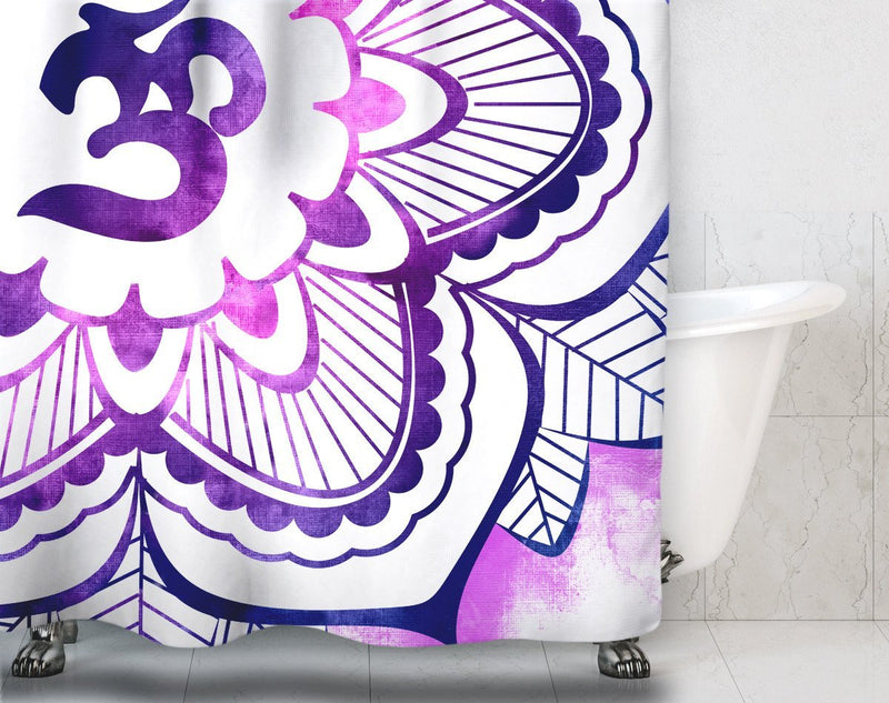 Mandala Om Shower Curtain - Loftipop