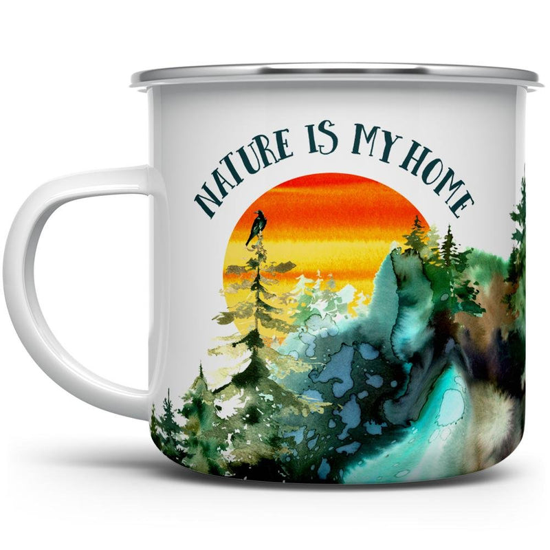 Nature is My Home Camp Mug - Loftipop