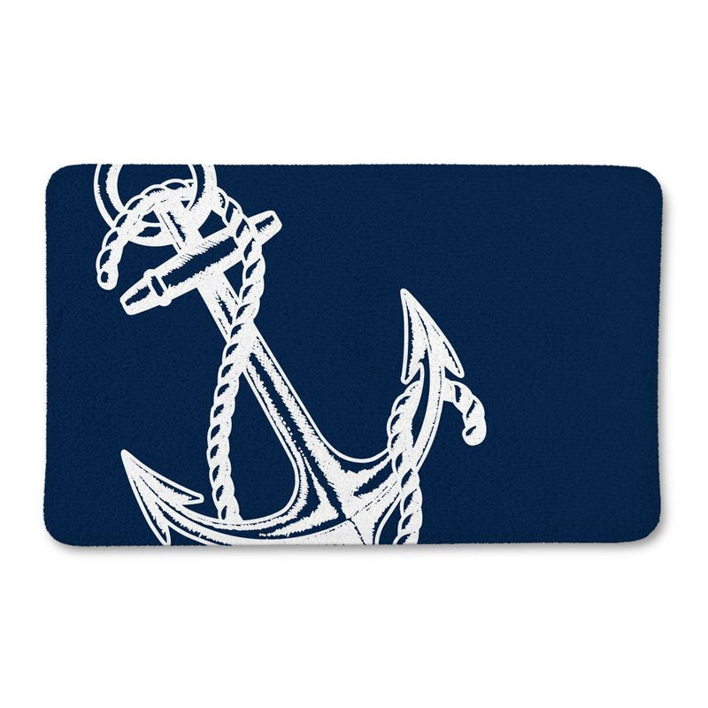 Nautical Anchor Bath Mat - Loftipop