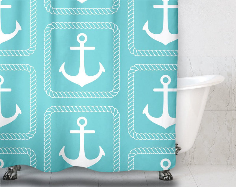 Nautical Anchor Shower Curtain - Loftipop