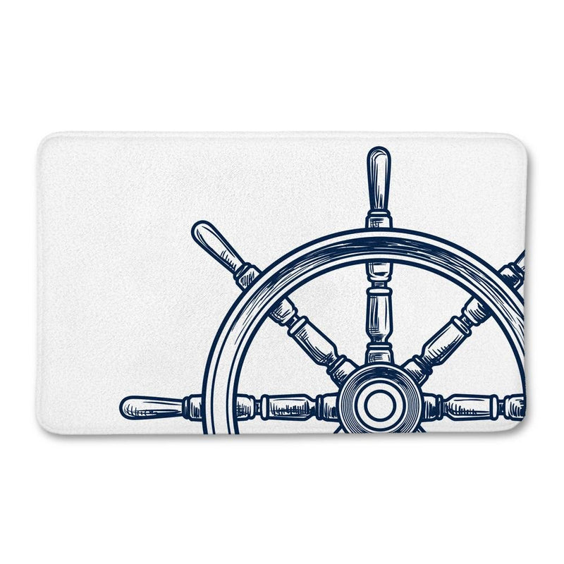 Nautical Wheel Bath Mat - Loftipop