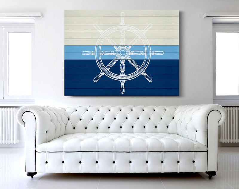 Nautical Wheel Canvas - Loftipop